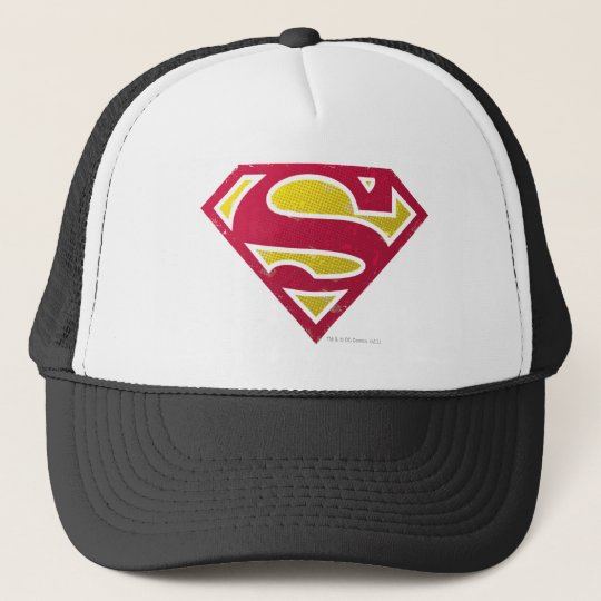 Superman S-Shield | Distressed Dots Logo Trucker Hat