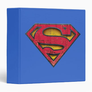 Superman S-Shield | Distressed Logo 3 Ring Binder