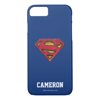 Superman S-Shield | Distressed Logo | Add Name iPhone 7 Case