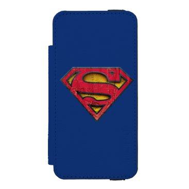 Superman S-Shield | Distressed Logo iPhone SE/5/5s Wallet Case