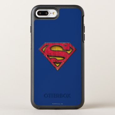 Superman S-Shield | Distressed Logo OtterBox Symmetry iPhone 8 Plus/7 Plus Case