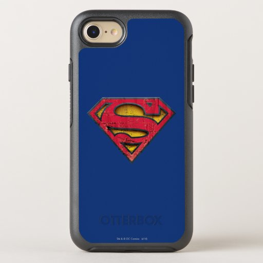 Superman S-Shield | Distressed Logo OtterBox Symmetry iPhone SE/8/7 Case