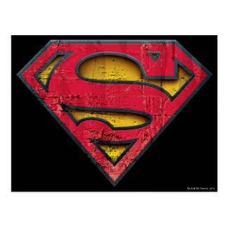 Superman S-Shield | Distressed Logo Postcard