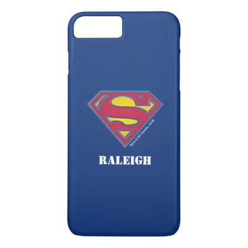 Superman S-Shield | Dot Logo | Add Your Name iPhone 8 Plus/7 Plus Case