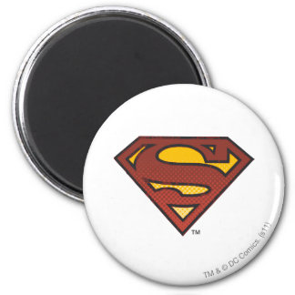 Superman S-Shield | Faded Dots Logo 2 Inch Round Magnet