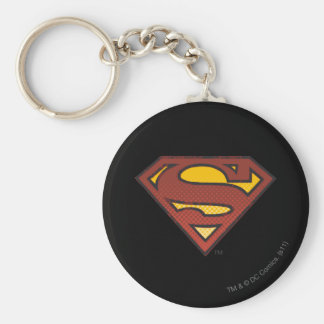 Superman S-Shield   Faded Dots Logo Keychain