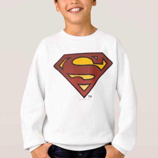 Superman S-Shield   Faded Dots Logo Sweatshirt