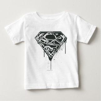 Superman S-Shield   Fragmented Splatter Logo Baby T-Shirt