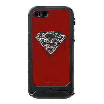 Superman S-Shield | Fragmented Splatter Logo Waterproof iPhone SE/5/5s Case