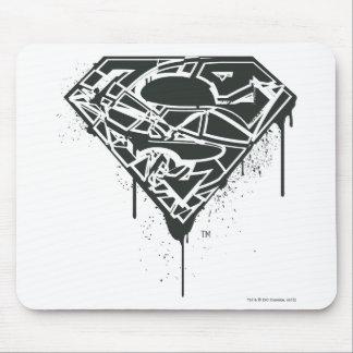Superman S-Shield | Fragmented Splatter Logo Mouse Pad