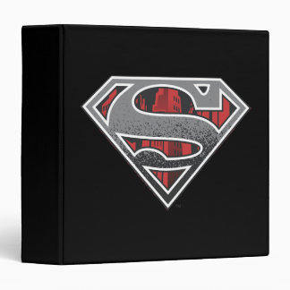 Superman S-Shield | Grey and Red City Logo Binder