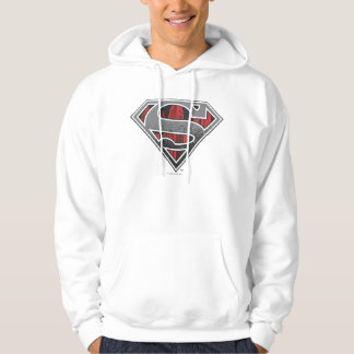 Superman S-Shield   Grey and Red City Logo Hoodie