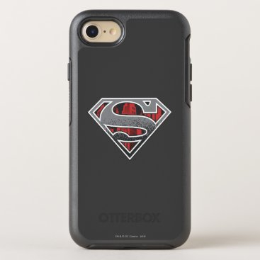 Superman S-Shield | Grey and Red City Logo OtterBox Symmetry iPhone 8/7 Case
