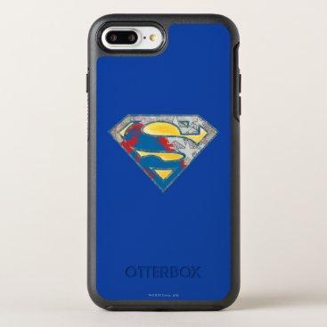 Superman S-Shield | Grey Yellow Red Black Mix Logo OtterBox Symmetry iPhone 8 Plus/7 Plus Case