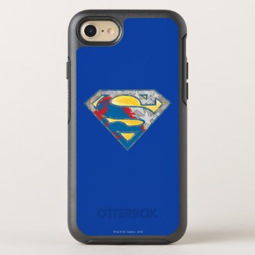 Superman S-Shield | Grey Yellow Red Black Mix Logo OtterBox Symmetry iPhone 8/7 Case