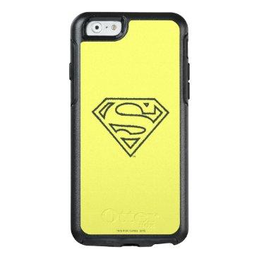 Superman S-Shield   Grunge Black Outline Logo 2 OtterBox iPhone 6/6s Case