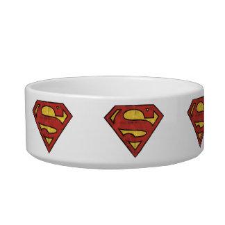 Superman S-Shield | Grunge Black Outline Logo Bowl
