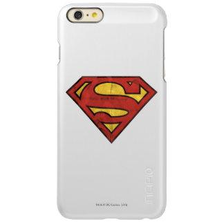 Superman S-Shield | Grunge Black Outline Logo Incipio Feather® Shine iPhone 6 Plus Case