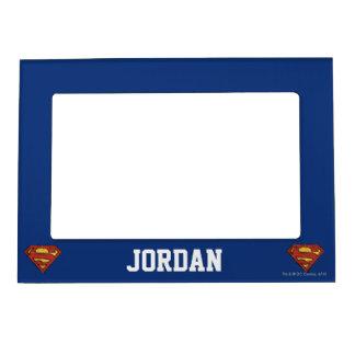 Superman S-Shield | Grunge Black Outline Logo Magnetic Frame