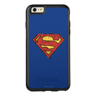 Superman S-Shield | Grunge Black Outline Logo OtterBox iPhone 6/6s Plus Case