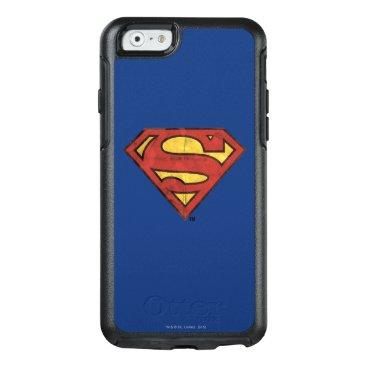 Superman S-Shield   Grunge Black Outline Logo OtterBox iPhone 6/6s Case