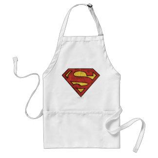 Superman S-Shield   Grunge Logo Adult Apron
