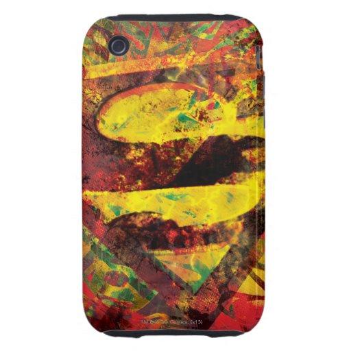 Superman S-Shield   Grunge Logo iPhone 3 Tough Case