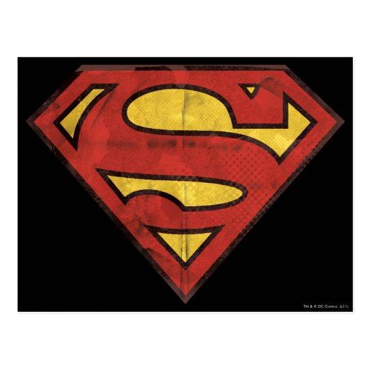 Superman S-Shield | Grunge Logo Postcard