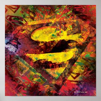 Superman S-Shield | Grunge Logo Poster