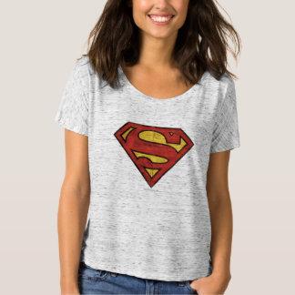 Superman S-Shield   Grunge Logo T-Shirt