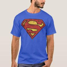 Superman S-shield | Grunge Logo T-shirt at Zazzle