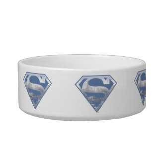 Superman S-Shield | Light Blue City Logo Bowl