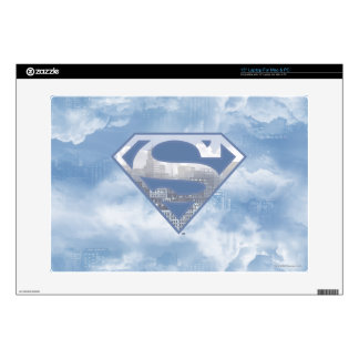Superman S-Shield | Light Blue City Logo Decals For Laptops