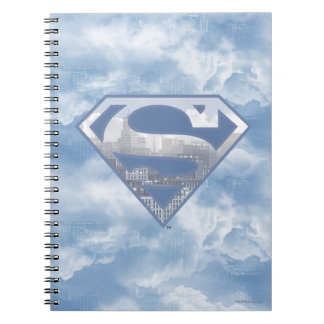 Superman S-Shield | Light Blue City Logo Notebook
