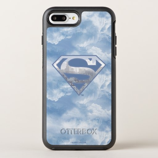 Superman S-Shield | Light Blue City Logo OtterBox Symmetry iPhone 8 Plus/7 Plus Case