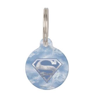 Superman S-Shield   Light Blue City Logo Pet Tag