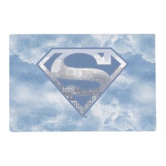 Superman S-Shield | Light Blue City Logo Placemat