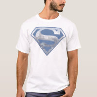 Superman S-Shield | Light Blue City Logo T-Shirt