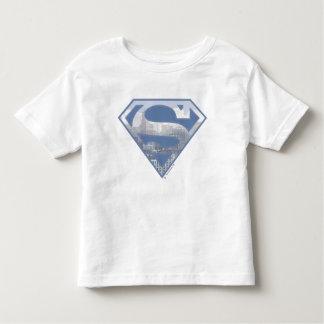 Superman S-Shield | Light Blue City Logo Toddler T-shirt