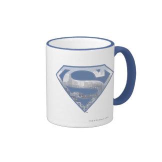Superman S-Shield Ringer Coffee Mug