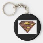 Superman S-Shield | Newspaper Logo Basic Round Button Keychain
