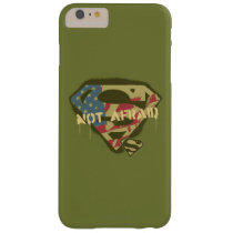 Superman S-Shield | Not Afraid Logo Barely There iPhone 6 Plus Case