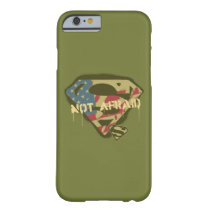 Superman S-Shield | Not Afraid Logo Barely There iPhone 6 Case