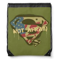 Superman S-Shield | Not Afraid Logo Drawstring Bag