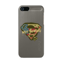 Superman S-Shield | Not Afraid Logo Metallic Phone Case For iPhone SE/5/5s