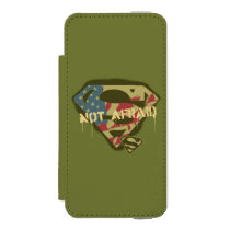 Superman S-Shield | Not Afraid Logo Wallet Case For iPhone SE/5/5s