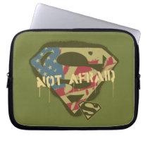 Superman S-Shield   Not Afraid Logo Laptop Sleeve