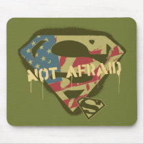 Superman S-Shield | Not Afraid Logo Mouse Pad