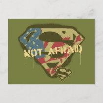 Superman S-Shield   Not Afraid Logo Postcard