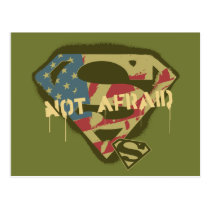 Superman S-Shield | Not Afraid Logo Postcard